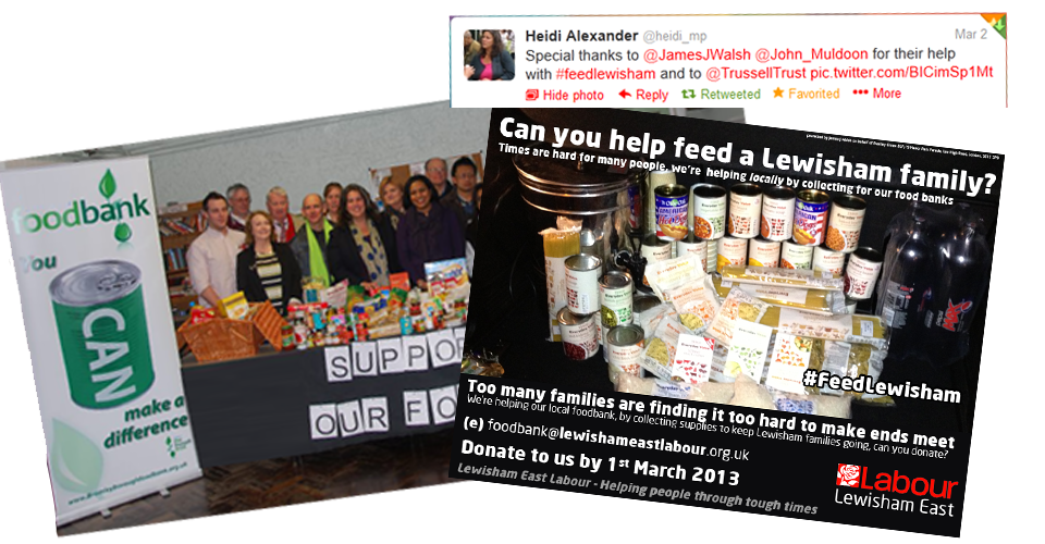 Food Banks Campaign Councillor James J Walsh