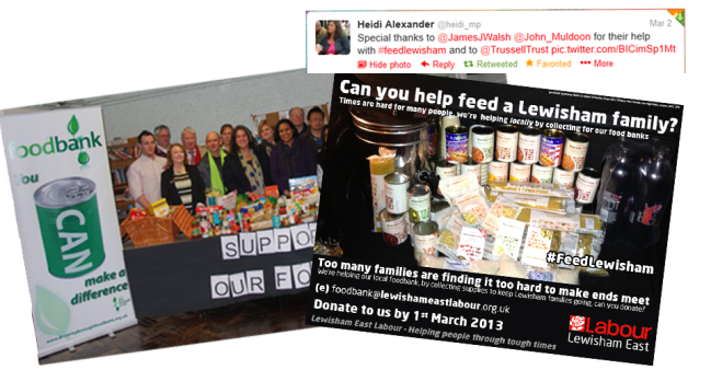 Montage of the Food Bank campaign
