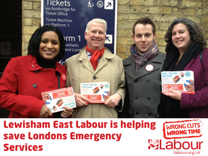 Lewisham East Labour Canvassing to save Londons Emergency Services