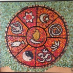 All faiths mosaic built by Lewishams Community